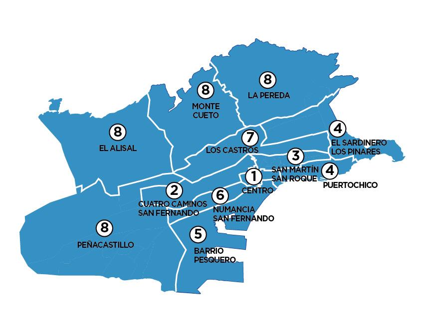 Mapa De Santander España.El Azul Pp Domina En Santander El Diario Montanes